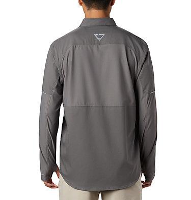 Men's PFG Force XII Zero™ Long Sleeve Hybrid Shirt Force XII ZERO™ LS Hybrid | 023 | L, City Grey, back