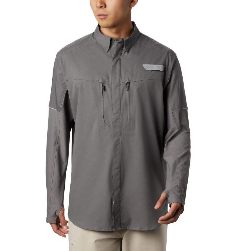 Men's PFG Force XII Zero™ Long Sleeve Hybrid Shirt Men's PFG Force XII Zero™ Long Sleeve Hybrid Shirt, front