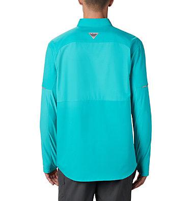 Men's PFG Force XII Zero™ Long Sleeve Hybrid Shirt Force XII ZERO™ LS Hybrid | 023 | L, Bright Aqua, back