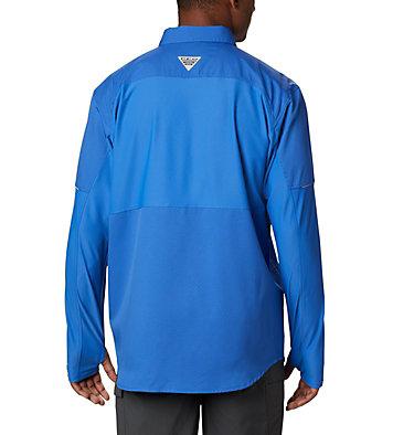 Men's PFG Force XII Zero™ Long Sleeve Hybrid Shirt Force XII ZERO™ LS Hybrid | 023 | L, Vivid Blue, back