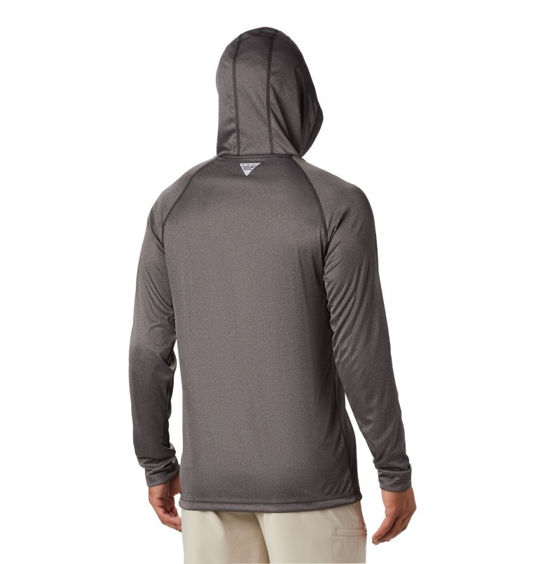 Men's PFG Terminal Tackle™ Heather Hoodie Men's PFG Terminal Tackle™ Heather Hoodie, back