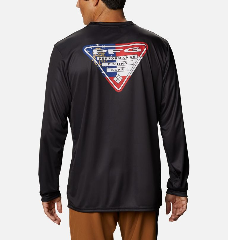 Men's PFG Terminal Tackle™ State Triangle Long Sleeve Shirt Men's PFG Terminal Tackle™ State Triangle Long Sleeve Shirt, front