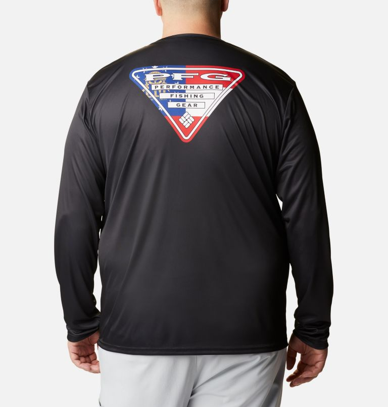 Men's PFG Terminal Tackle State Triangle™ Long Sleeve Shirt - Big Men's PFG Terminal Tackle State Triangle™ Long Sleeve Shirt - Big, front