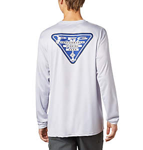 Men's Terminal Tackle PFG State Triangle Long Sleeve Shirt - Tall