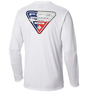 Men's Terminal Tackle PFG State Triangle Flag Long Sleeve Shirt - Tall