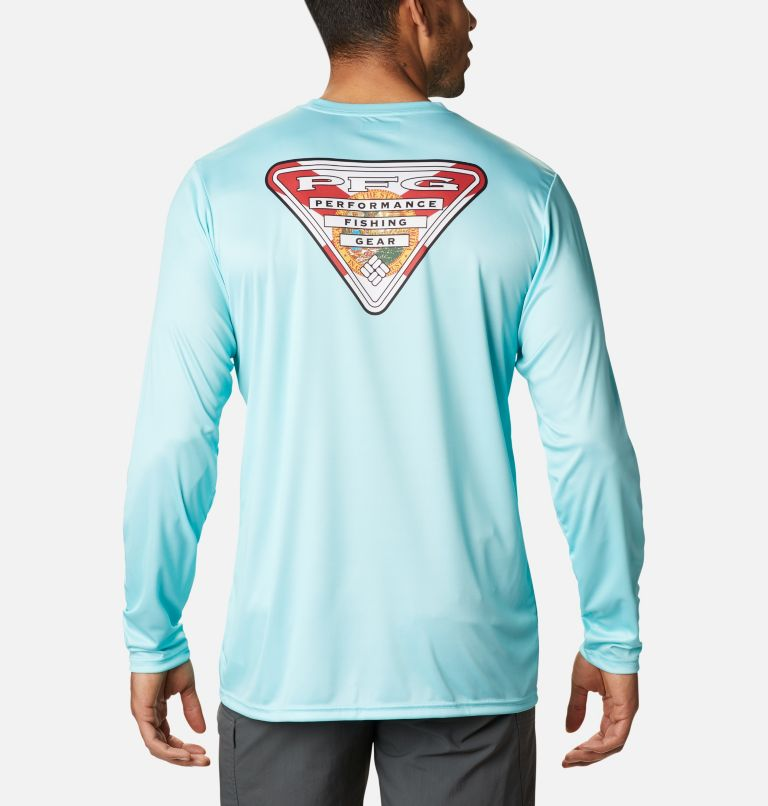 Men's PFG Terminal Tackle State Triangle Long Sleeve Shirt - Tall Men's PFG Terminal Tackle State Triangle Long Sleeve Shirt - Tall, front