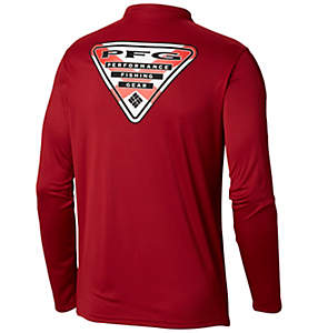 Men's Terminal Tackle PFG State Triangle Flag Long Sleeve Shirt - Tall