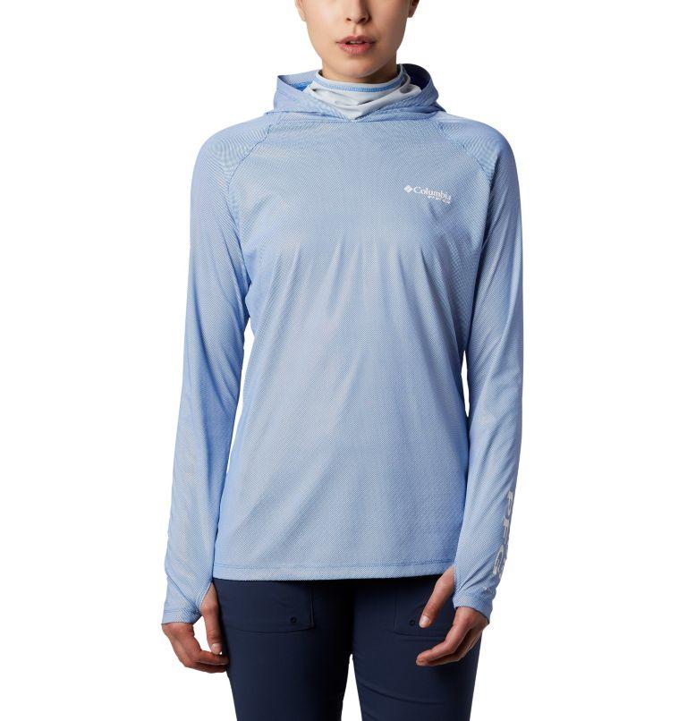 Tidal Deflector ZERO™ Hoodie | 426 | S Women's PFG Tidal Deflector™ Zero Hoodie, Stormy Blue, Cirrus Grey, front
