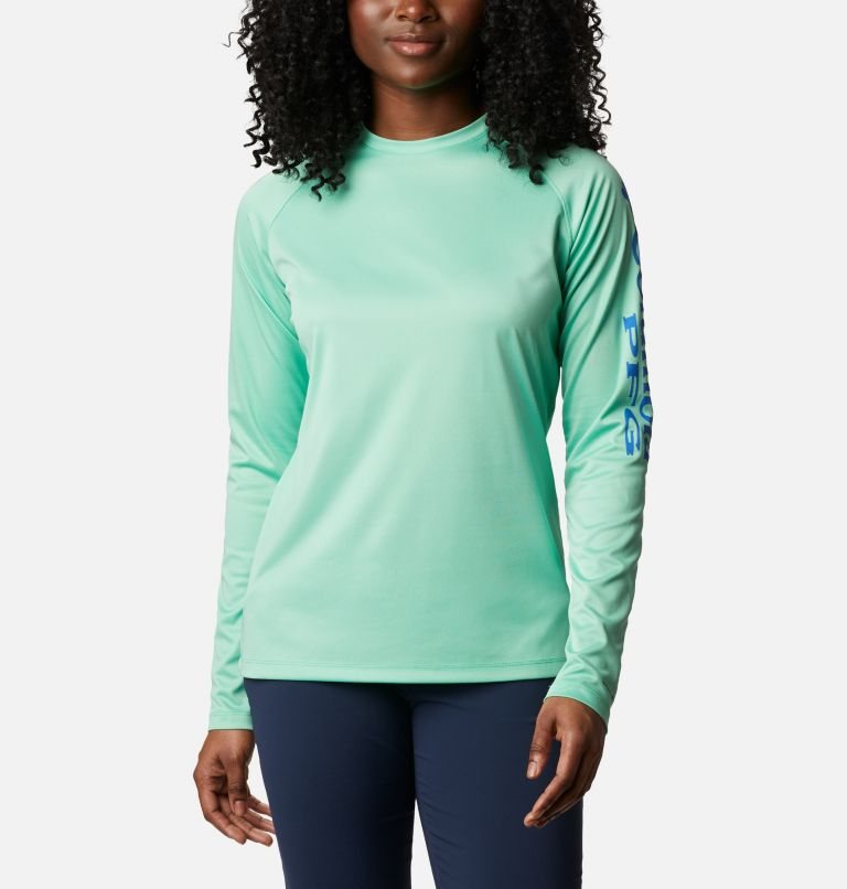 Women's PFG Tidal Tee™ Heather Long Sleeve Shirt Women's PFG Tidal Tee™ Heather Long Sleeve Shirt, front