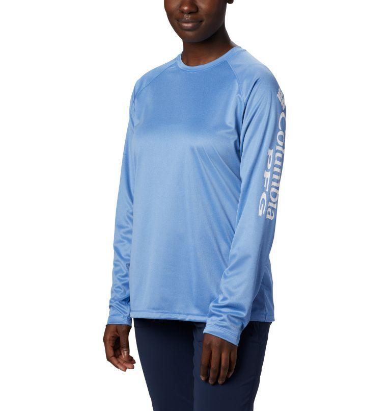 Tidal Tee™ Heather Long Sleeve | 426 | XS Women's Tidal Tee™ Heather Long Sleeve, Stormy Blue Heather, White Logo, front