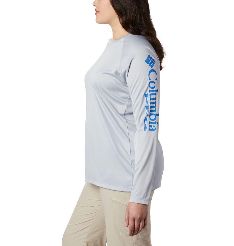 Tidal Tee™ Heather Long Sleeve | 032 | 3X Tidal Tee™ Heather Long Sleeve, Cirrus Grey Heather, Stormy Blue Logo, a1