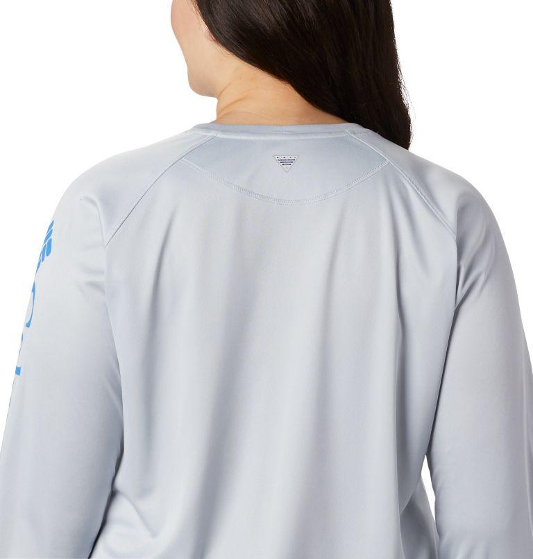 Tidal Tee™ Heather Long Sleeve | 032 | 3X Tidal Tee™ Heather Long Sleeve, Cirrus Grey Heather, Stormy Blue Logo, a2