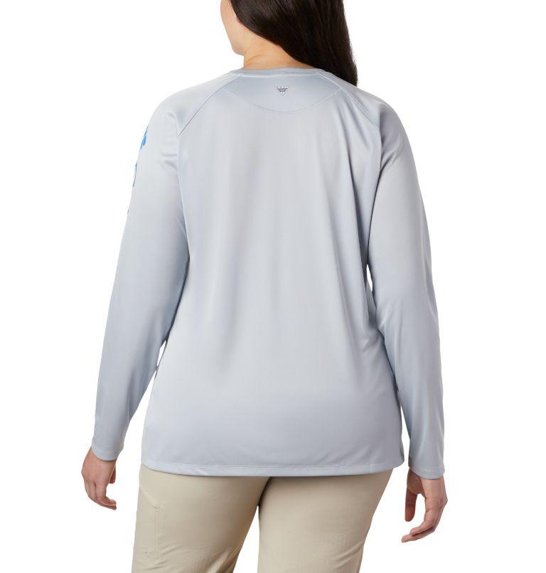 Tidal Tee™ Heather Long Sleeve | 032 | 3X Tidal Tee™ Heather Long Sleeve, Cirrus Grey Heather, Stormy Blue Logo, back