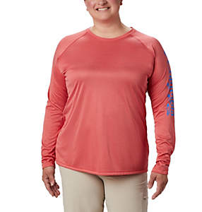 Women's PFG Tidal Tee™ Heather Long Sleeve Shirt - Plus Size