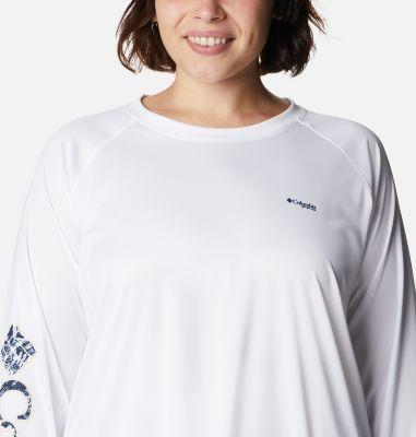 Women's PFG Tidal™ Tee Long Sleeve Printed Fish Shirt - Plus Size | Columbia Sportswear