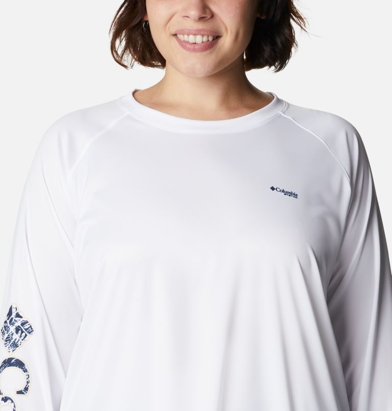 Women's PFG Tidal™ Tee Long Sleeve Printed Fish Shirt - Plus Size Women's PFG Tidal™ Tee Long Sleeve Printed Fish Shirt - Plus Size, a2