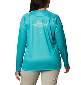 Women's PFG Tidal™ Tee Long Sleeve Printed Fish Shirt - Plus Size