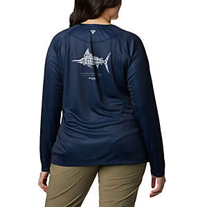 Women's PFG Tidal™ Tee Long Sleeve Printed Fish Shirt - Plus Size