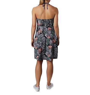 Women's PFG Armadale™ II Halter Top Dress Armadale™ II Halter Top Dress | 426 | L, Black Feathery Leaves Print, back