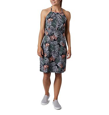 Women's PFG Armadale™ II Halter Top Dress Armadale™ II Halter Top Dress | 426 | L, Black Feathery Leaves Print, front