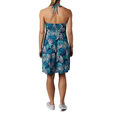 Women's PFG Armadale™ II Halter Top Dress Armadale™ II Halter Top Dress | 426 | L, Dolphin Feathery Leaves Print, back