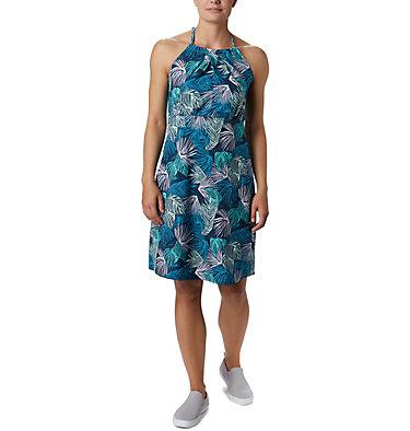 Women's PFG Armadale™ II Halter Top Dress Armadale™ II Halter Top Dress | 426 | L, Dolphin Feathery Leaves Print, front