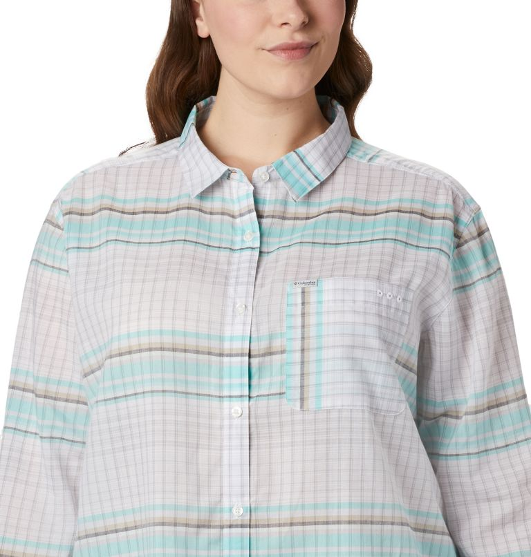 Women's PFG Sun Drifter™ II Long Sleeve Shirt - Plus Size Women's PFG Sun Drifter™ II Long Sleeve Shirt - Plus Size, a2