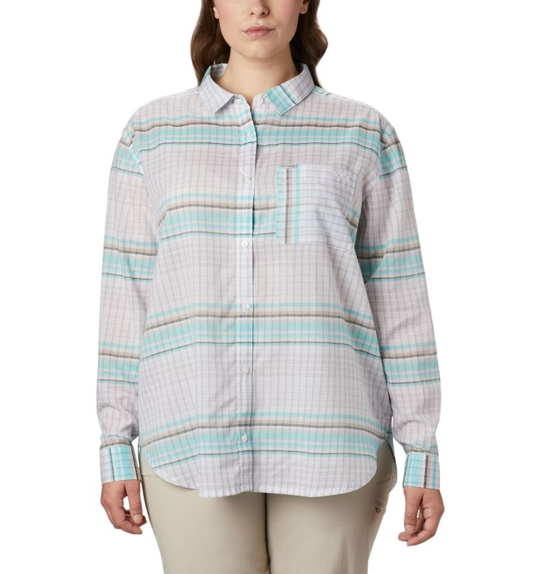 Women's PFG Sun Drifter™ II Long Sleeve Shirt - Plus Size Women's PFG Sun Drifter™ II Long Sleeve Shirt - Plus Size, front