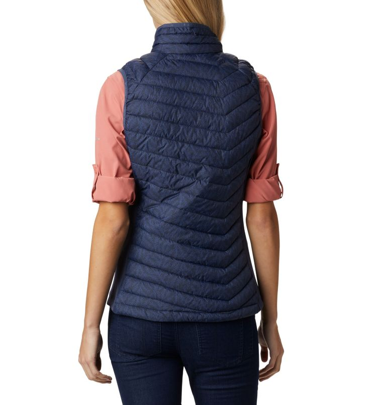 Powder Pass™ Vest | 467 | S Veste Sans Manches Powder Pass™ Femme, Nocturnal Ferny Ferns Print, back