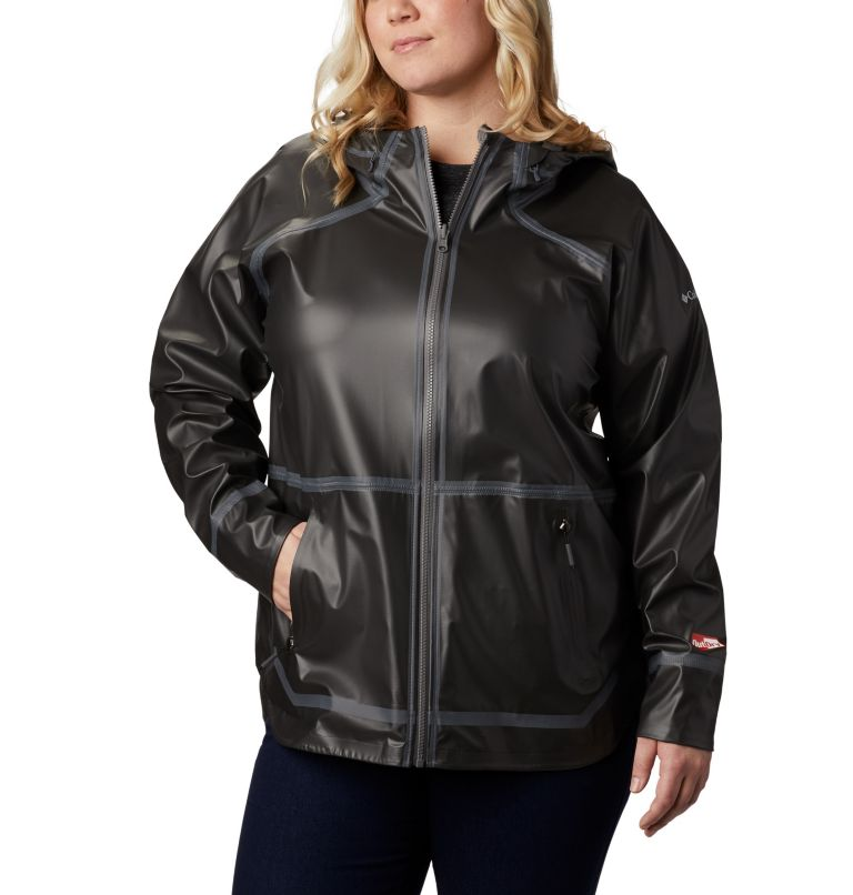 OutDry Ex™ Reversible II Jacket | 012 | 1X Women's OutDry Ex™ Reversible II Jacket - Plus Size, Black, front