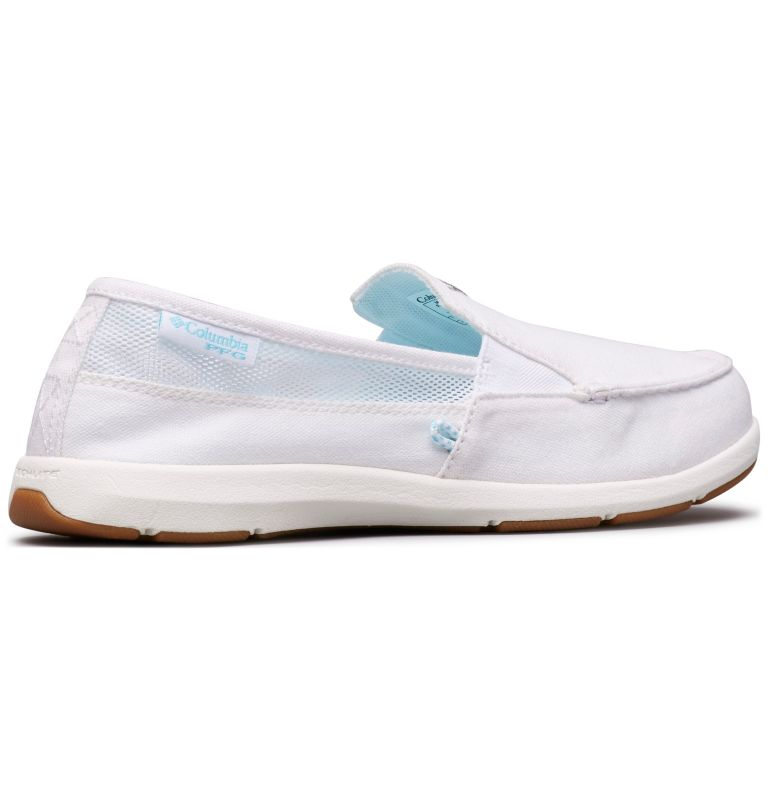 DELRAY™ II SLIP PFG | 100 | 6 Women's PFG Delray™ II Slip Shoe, White, Coastal Blue, 3/4 back