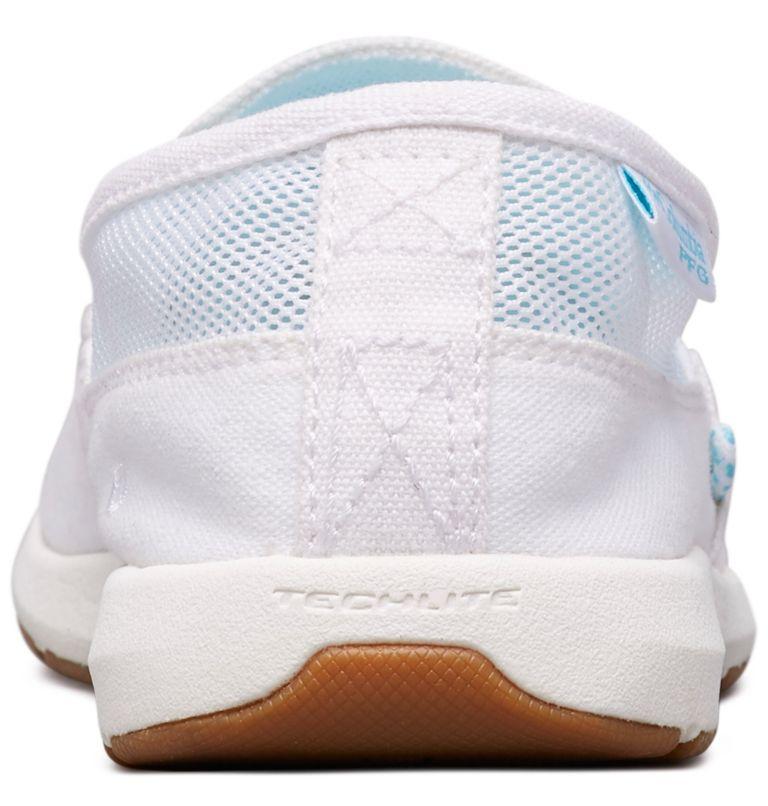 DELRAY™ II SLIP PFG | 100 | 8.5 Women's PFG Delray™ II Slip Shoe, White, Coastal Blue, back