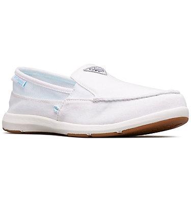 Women's PFG Delray™ II Slip Shoe DELRAY™ II SLIP PFG | 025 | 8, White, Coastal Blue, 3/4 front
