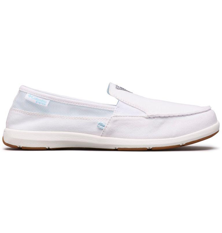 DELRAY™ II SLIP PFG | 100 | 8.5 Women's PFG Delray™ II Slip Shoe, White, Coastal Blue, front