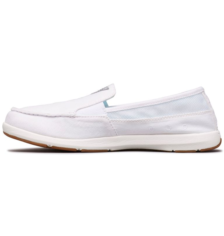 DELRAY™ II SLIP PFG | 100 | 6 Women's PFG Delray™ II Slip Shoe, White, Coastal Blue, medial