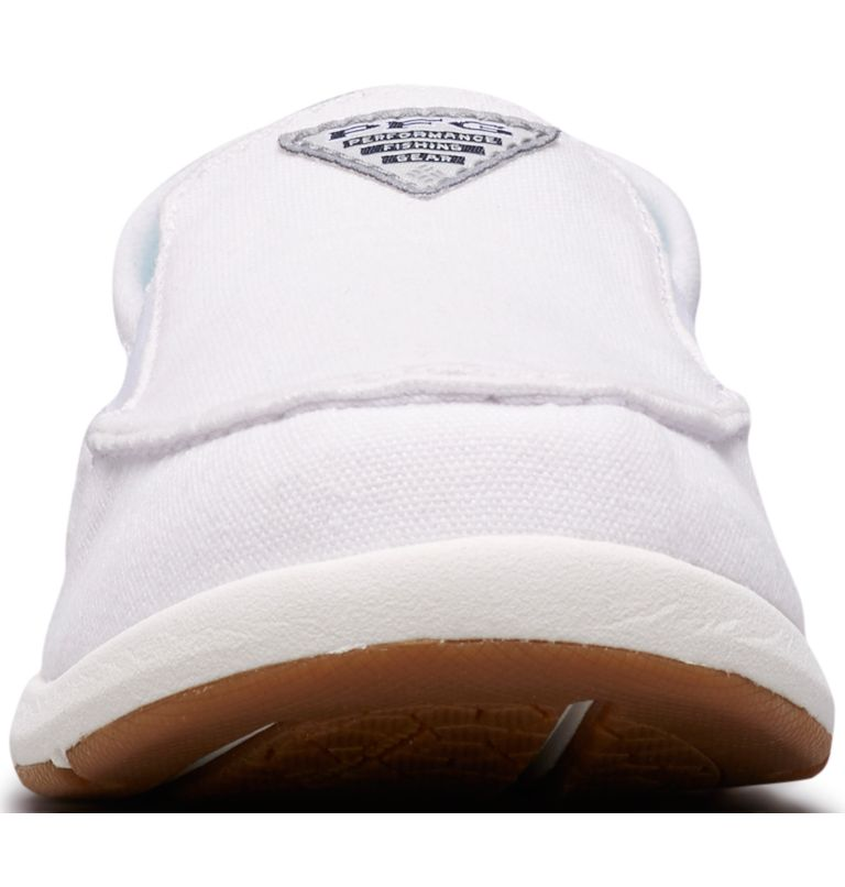 DELRAY™ II SLIP PFG | 100 | 8.5 Women's PFG Delray™ II Slip Shoe, White, Coastal Blue, toe
