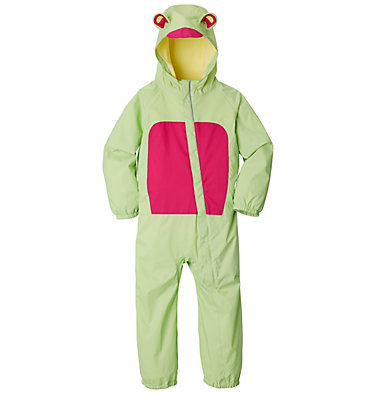 Infant Kitteribbit™ Rain Suit Kitteribbit™ Rain Suit | 358 | 0/3, Jade Lime, Haute Pink, front