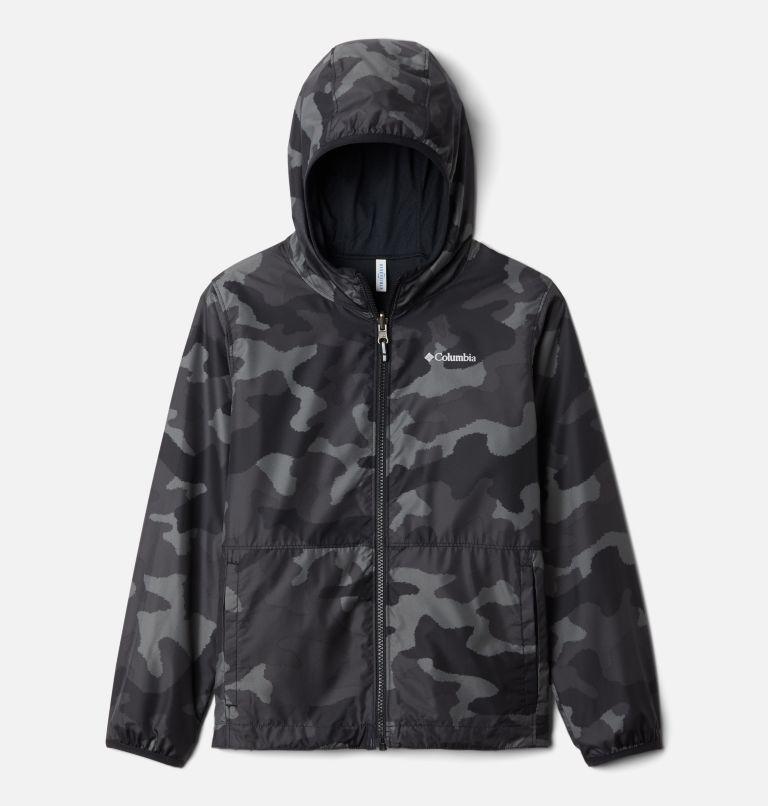 Pixel Grabber™ Reversible Jacket | 013 | XS Kids' Pixel Grabber™ Reversible Jacket, Black Trad Camo, front