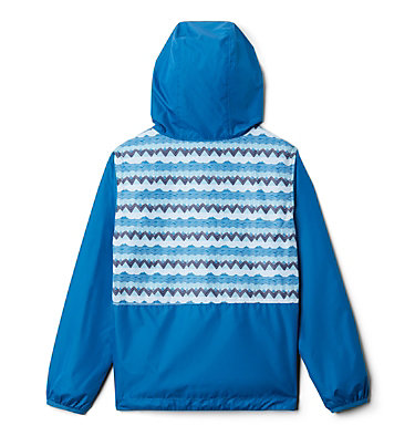 Kids' Pixel Grabber™ Reversible Jacket Pixel Grabber™ Reversible Jacket | 612 | L, Dark Pool Striped Peak, back