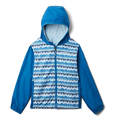 Kids' Pixel Grabber™ Reversible Jacket Pixel Grabber™ Reversible Jacket | 612 | L, Dark Pool Striped Peak, front