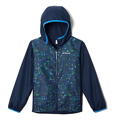 Kids' Pixel Grabber™ Reversible Jacket Pixel Grabber™ Reversible Jacket | 612 | L, Collegiate Navy Camp Supplies, front
