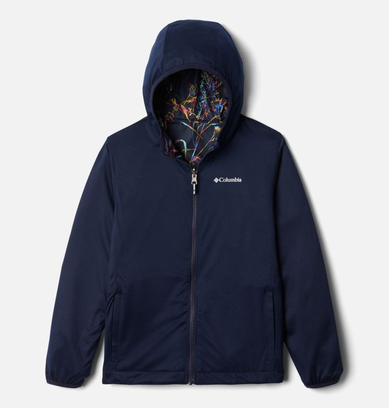 Pixel Grabber™ Reversible Jacket | 473 | XS Kids' Pixel Grabber™ Reversible Jacket, Dark Nocturnal Art Bouquet, a1