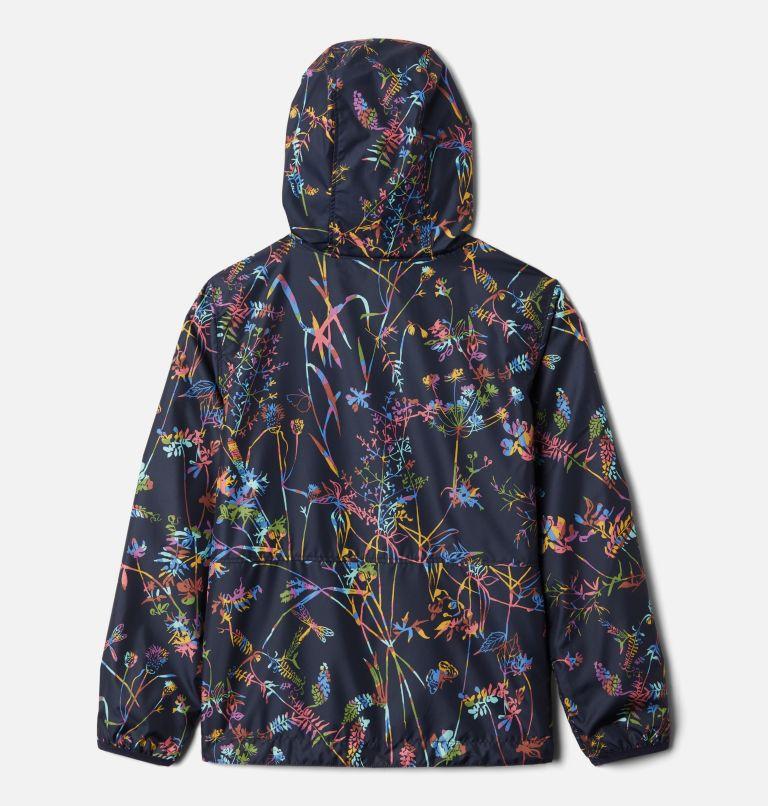 Pixel Grabber™ Reversible Jacket | 473 | XS Kids' Pixel Grabber™ Reversible Jacket, Dark Nocturnal Art Bouquet, back