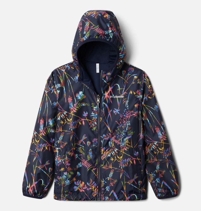 Pixel Grabber™ Reversible Jacket | 473 | XS Kids' Pixel Grabber™ Reversible Jacket, Dark Nocturnal Art Bouquet, front