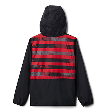 Kids' Pixel Grabber™ Reversible Jacket Pixel Grabber™ Reversible Jacket   638   L, Mountain Red Tie Dye Stripe, back