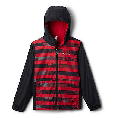 Kids' Pixel Grabber™ Reversible Jacket Pixel Grabber™ Reversible Jacket   638   L, Mountain Red Tie Dye Stripe, front