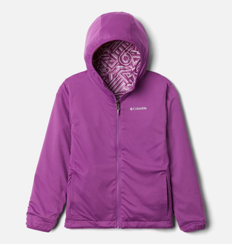 Pixel Grabber™ Reversible Jacket | 621 | M Kids' Pixel Grabber™ Reversible Jacket, Berry Jam Geo Elements, a1