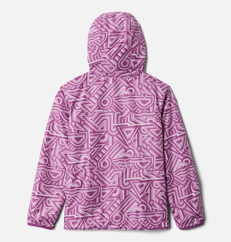 Pixel Grabber™ Reversible Jacket | 621 | M Kids' Pixel Grabber™ Reversible Jacket, Berry Jam Geo Elements, back