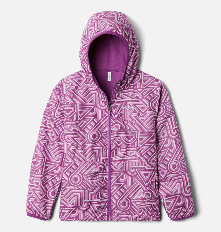 Pixel Grabber™ Reversible Jacket | 621 | M Kids' Pixel Grabber™ Reversible Jacket, Berry Jam Geo Elements, front