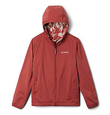 Kids' Pixel Grabber™ Reversible Jacket Pixel Grabber™ Reversible Jacket | 638 | L, Dusty Crimson Magnolia Floral, a1